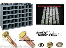 Grade 8 Bolt Nut & Washer Assortment Fine Thread 1500 pcs & 40 Slot Storage Bin