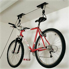 BICYCLE  STORAGE RACK BASEMENT HANGING HOOKS GARAGE PULLEY HOIST BIKE CYCLE