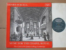 PURCELL MUSIC FOR THE CHAPEL ROYAL CHOIR ST JOHN'S COLLEGE ARGO ZRG 5444 OVAL