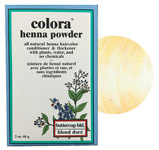 Colora Henna Powder All Natural Hair Color 60g Buttercup Blonde