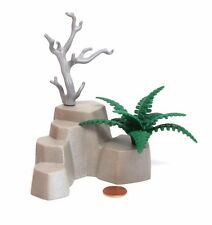 Playmobil Western Forest Landscape Grey Rock Formation w/ Dead Tree Fern Plant