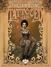 THE AMAZING TATTOOED LADY Laminated POSTER Art Print Vintage Retro NEW Licensed