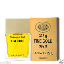 Christopher Dark Oro Fino Colonia Natural Spray para hombre 100ml