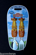 DISNEY Store MEAL TIME MAGIC Collection LION GUARD Fork Spoon FLATWARE Set NEW