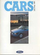 Ford Cars July-August 1987 Fiesta Escort Sierra Granada Original UK Brochure