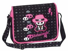 Skelanimals Chungkee Monkey Skull Black Pink Gothic Shoulder Strap Courier Bag