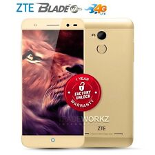"New Unlocked ZTE Blade V7 Lite Gold 5"" IPS Quad Core 4G LTE Android Cell Phone"