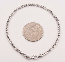 "8"" Franco Unisex Men's Chain Bracelet Italy Sterling Silver 925 Lobster Claw"