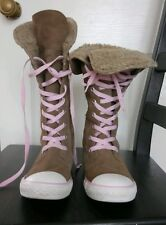 Convers Allstars light brown boots size 2 1/2