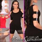 NEW SEXY WOMENS FASHION TOP 8 10 12 LADIES CASUAL CLUB PARTY DRESS SHIRT S M L