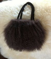 Genuine Lamb/Sheep Mongolian Real Fur Hair Evening Bag Purse Fun!