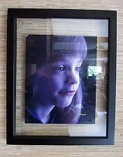 "11"" X 14"" Contemporary Wood Black Floating Picture Frame 3/4"" Wide Molding"