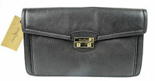 Cole Haan B45050 Black Leather Zoe II Izzie Clutch Purse Bag NWT $198