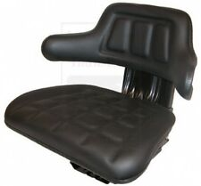 UNIVERSAL Tractor Seat BLACK for Allis Chalmers White Oliver MM METAL BASE!