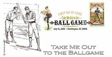 2008 TAKE ME OUT TO THE BALL GAME ~ MCINTOSH CACHET ~ FIRST DAY COVER-DCP CANCEL