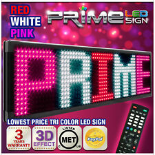 """26mm TriColor 69""""x19"""" Programmable LED Sign Scrolling Message Display Out/Indoor"""