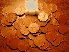 1938-P LINCOLN WHEAT CENT PENNY ROLL, HIGH GRADE!! VF-XF!!!!!