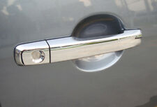 4 DOOR HANDLE CHROME INSERT SURROUND COVER TRIM ISUZU D-MAX 12 13 14 PICKUP