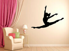 "Leaping Dancer Wall Decal Vinyl Sticker Dance Studio Bedroom Wall Home 29"" Tall"