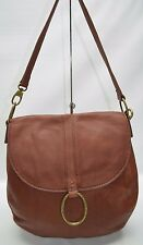 Lucky Brand Boho Saddle Tan Genuine Leather Flap Shoulder Crossbody Bag