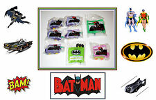 8 Pcs, McDonalds Happy Meal Toys. BATMAN Collection. New. 1993 Series.