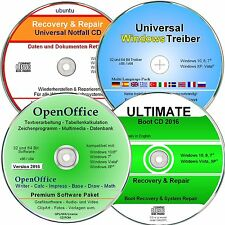 OpenOffice Paket + Treiber DVD + Ultimate Boot CD + Recovery CD für Windows