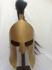 Ancient Armour King Leonidas 300 spartan Helmet antique finish plume (B grade)