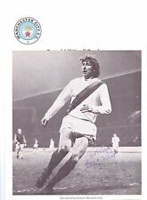 WYN DAVIES MANCHESTER CITY 1971-1973 ORIGINAL HAND SIGNED PICTURE CUTTING