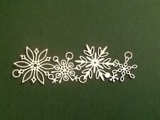 10 x Poppystamps FROZEN FLAKES die cuts ideal for christmas *FREE UK POSTAGE*