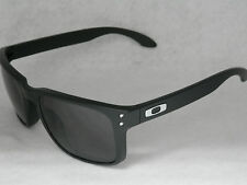 *NEW* OAKLEY HOLBROOK OO9102-01 MATTE BLACK W/ WARM GREY LENS
