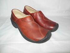 NEW KEEN CONCORD WOMEN'S WINE LEATHER CLOG SHOES SIZE EU 40/US 9.5