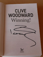 Signed Sir Clive Woodward England Rugby Book 'Winning' - 2003 World Cup Winner