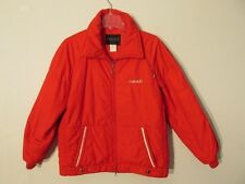 S7515 Vintage 1980's Head Men's Medium Red Full Zip Winter Jacket