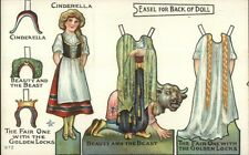 Cinderella Paper Doll - Outfits etc c1910 Postcard EXC COND myn