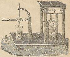 A4154 Torchio idraulico - Incisione - Stampa Antica del 1891
