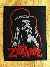 Rob Zombie Sew Iron On Patch Embroidered Music Heavy Metal Rock Band Badge Logo