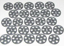 LEGO LOT OF 25 NEW DARK BLUISH GREY PULLEY TECHNIC WEDGE BELT WHEELS PIECES