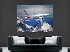 BOEING 777 AEROPLANE JET AMERICAN PLANE  AIRLINE WALL POSTER  PRINT LARGE HUGE