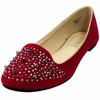 New women's shoes ballet flat ballerina synthetic casual summer work red