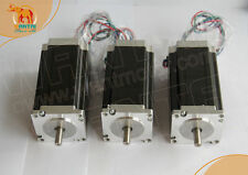 DE Ship! Schrittmotor Wantai Nema23 3PCS Stepper Motor 425oz-in 3A Dual Shaft