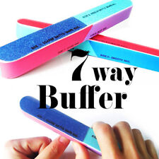 2x 7 Way Nail Sanding file buffering shinner polisher