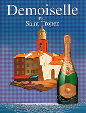 PUBLICITE ADVERTISING 015  2011  DEMOISELLE  champagne pour SAINT-TROPEZ
