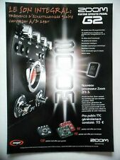 PUBLICITE-ADVERTISING :  ZOOM Effects Pedal G2  07-08/2007