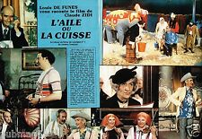 Coupure de Presse Clipping 1976 (4 pages)  L'Aile ou la Cuisse Louis De Funès