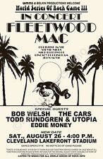 Fleetwood Mac / Todd Rundgren / The Cars 1978 Cleveland Concert Poster