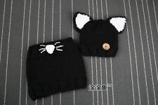 Cute Baby Toddler Winter Beanie Warm Hat Hooded Scarf Earflap Knitted Cap Kids T