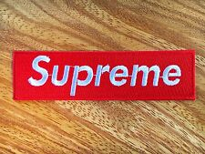 SUPREME IRON ON PATCH RED COLOR 11*3 cm Embroidered