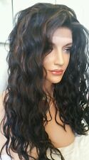 Beautiful Wavy Lace Front Wig 1b/30 Blk/Abrn Heat Safe cn be curled/straightened