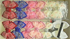 Joblot 12pcs Bow Design Sparkly hairclips hairgrips NEW wholesale lot 33