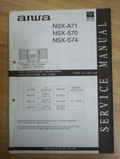 AIWA Service Manual for the NSX-A71 NSX S70 S74 Cassette Receiver System~Repair